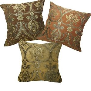 Pillow Cover*Damask Chenille Sofa Seat Pad Cushion Case Custom Size*Wk3