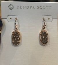 Kendra Scott Lee Earrings in 14k Rose Plated Rose Drusy