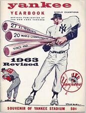 Vintage New York Yankees Yearbook 1963 World Champions Revised