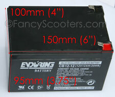 ENDURING BATTERY CB12-12 12V12AH/20AH FOR RAZOR SCOOTERS & OTHERS GREAT QUALITY