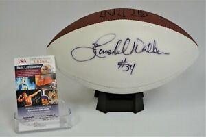 Herschel Walker Signed White Panel Wilson Football JSA HH23499