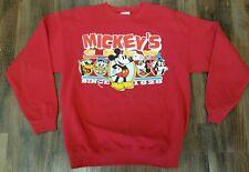 Vintage Mickey & Co Disney Sweatshirt Mickey's Crew Since 1928 Donald Duck Goofy