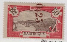 Martinique,Scott#118,25c on 50c,MH,Scott=$325