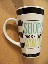 Shoes Make the Woman tall porcelain mug coffee cup