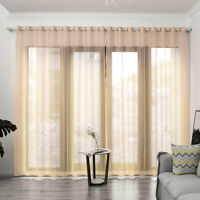 Colorful Gauze Long Curtain Bedroom Living Room Balcony Window Decorations Grids