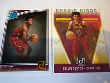 COLLIN SEXTON 2018-19 DONRUSS THE ROOKIES RATED ROOKIE  2x CARD LOT CAVS