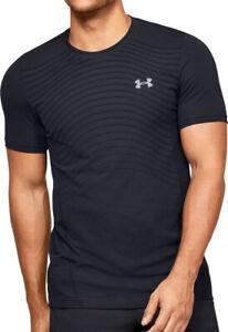 Under Armour Seamless Wave Short Sleeve Mens Training Top - Black