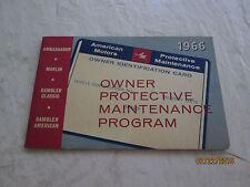 1966  American Motors owner protective maintenance program booklet   NOS