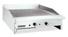 American Range Artg 36 Counter Unit 36 Inch Thermostatic Gas Griddle With Stee
