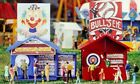 CIRCUS BULLS EYE & GUESSING GAME BOOTHS HO 1:87 Scale New in Sealed Box IHC 5123