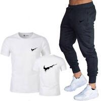 New men's Nike Logo 2 Pcs Set Tshirt + Pants Casual 100% Cotton Sports Gym brand