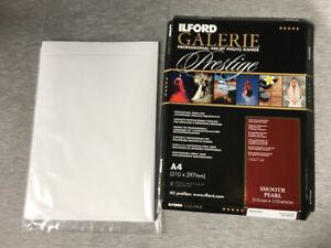 Ilford Galerie Prestige Inkjet Photo Range A4 paper printing 19 sheets