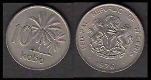 ★★ NIGERIA  ● 10 KOBO 1976 ● Réf. 137 ★★