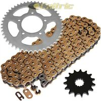 Gold O-Ring Drive Chain & Sprocket Kit Fits SUZUKI GSF650 GSF650SA Bandit 07-15