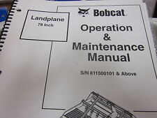 Bobcat Landplane Operation & Maintenance Manual