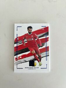 2020-21 Panini Impeccable Soccer Premier Sapphire Mohamed Salah 14/35