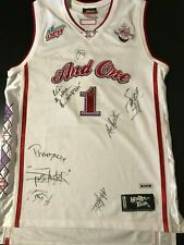 Vintage 2005 And1 Autographed Signed Mixtape Tour Basketball Jersey Street Ball