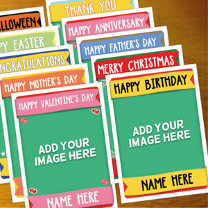 CUSTOM PHOTO Personalised Card ANY OCCASION - xmas, romantic, etc, personalized