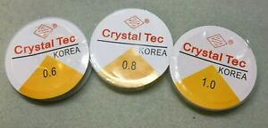 Strong Clear Elastic Bundle of x3 - 0.6, 0.8 & 1mm jewellery making crystal tec