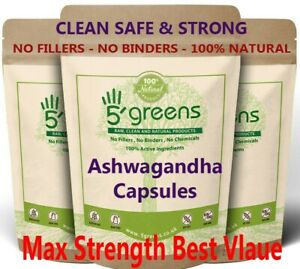 Ashwagandha Extract Capsules 10000mg (30mg withanolides) Natural Vegan Capsules