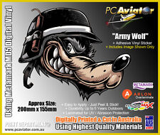 Army Wolf Full Colour Digitally Printed Sticker - Car, Truck, Window, Military