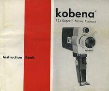 Kobena 321 super 8 movie camera instruction manual 1960's