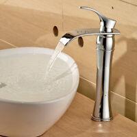 Hoch Wasserfall Wasserhahn Waschtischarmatur Einhandmischer Bad Armatur Chrom DE