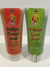 2 Pk COMBO PAPAYA ORANGE SCRUB & PAPAYA GREEN SCRUB 100 ml EA