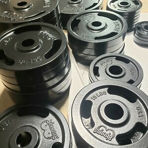 "2"" Olympic Weight Plates, American Made for Barbell Set 2.5,5,10,25,35,45 NEW"