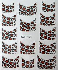 Nail art stickers bijoux d'ongles: 14 décalcomanies motifs léopards design