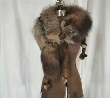 fox fur stole scarf collar shawl body nature gray vintage