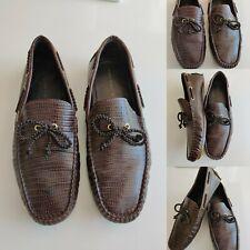 ZARA Man Shoes UK 11 EU45 Dark Chocolate Snakeskin Leather Comfortable Brill Con