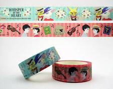 2 Whisper of the Heart washi tapes! Japanese Studio Ghibli Hayao Miyazaki kawaii