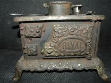 ANTIQUE RIVAL CAST IRON TOY CHILDS STOVE SALESMAN SAMPLE