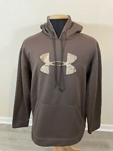 Under Armour Hoodie Sweatshirt Real Tree Camo Hooded Pullover Mens XL