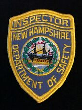 New Hampshire NH State Police Highway Patrol Patch INSPECTOR CMV CVE