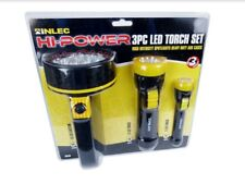 3pc LED Torch Flashlight Set High Power for DIY, Camping, Hiking