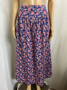 MOMBASA ROSE SIZE S FLORAL COOL COTTON SKIRT