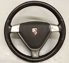 Porsche 911 997 987 Makassar / Cocoa Brown Leather Steering Wheel + Airbag