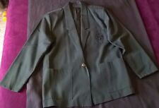 BARRIE STEPHENS Blazer Jacket Women's Green Small 50 % Rayon 50% Poly Business