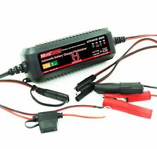 12V 2Amp Automatic Battery Charger for Both Lead Acid & Lithium Ion Batteries