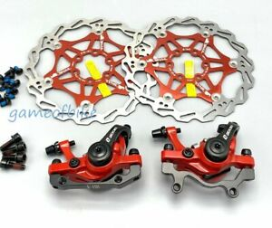 Mechanical Disc Brakes Calipers Front Rear Rotors Both sides push brake MTB Bike
