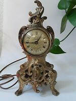 Vintage Cast Metal Victorian Louis XV. Decorative  Mantle Clock, NEEDS REPAIRS