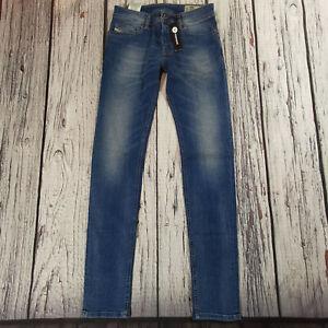 Men's Diesel Jeans 31 Waist 32 Leg Sleenker Skinny Fit Soft Stretch Blue £130