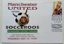 Manchester United VS Socceroos First Day Cover 15th July 1999 MCG Australia