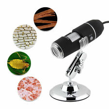 1000X 8 LED 2MP USB Digital Microscope Endoscope Magnifier Camera with Lift