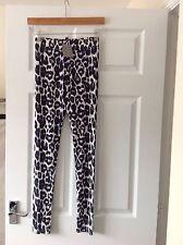 """Donna Nuovo di Zecca """"H & M 'Blu Scuro Leopardo leggings. Taglia 8. lunghezza totale. in etichetta."""