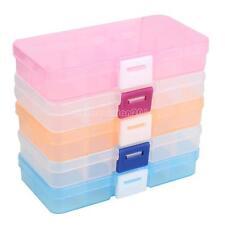 10 células Transparente Plástico Joya Pastillas Cajas Almacenaje Organizador
