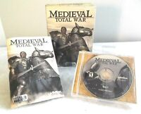 Activision Computer PC Video Game Medieval - Total War EUC Complete Manual CD's