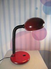 70s rote SCHREIBTISCHLAMPE Tischlampe Schwanenhals table lamp